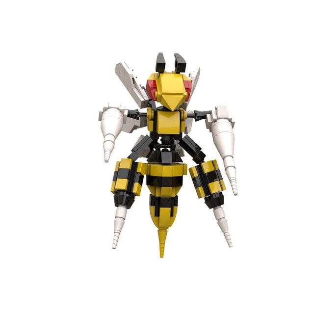 240PCS Beedrill Building Blocks Toys For Children Pokemones Action Figure Model Kids Toy Original Design Assembling Bricks Toy 1