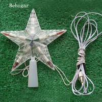 Behogar LED intermitente lámpara de cambio de Color navidad árbol de navidad decoración de estrellas luz enchufe de la UE para el hogar navidad kerst natale