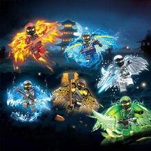 Fly Ninja с оружием, фигурки, строительные блоки, детские игрушки, подарок, совместимые с LegoINGLY Ninjagoed, развивающие игрушки для детей
