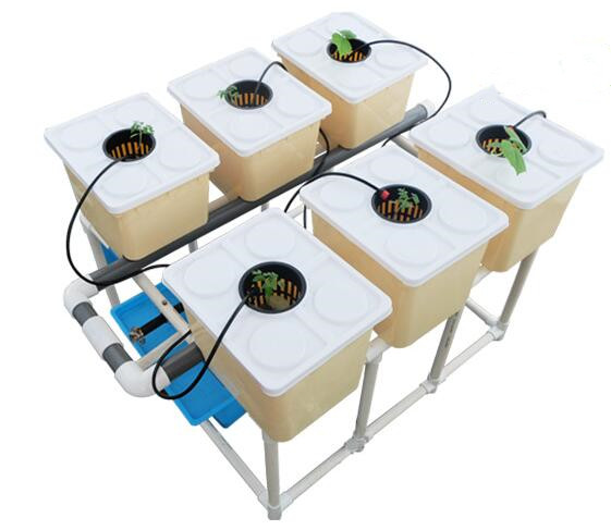 6pcs BATO Hydroponics Bucket System With Nozzle And DIY Accessories Included