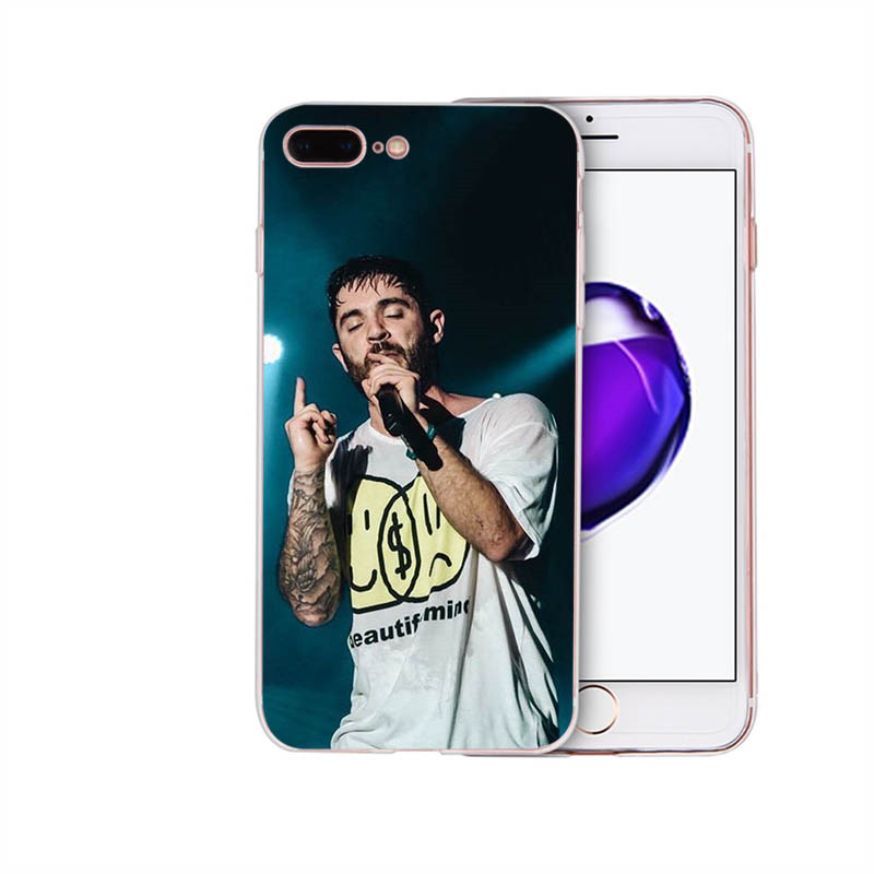 HOUSTMUST Singer Jon Bellion Soft silicone phone case cover for iphone 7 x xr 6s 8 6 plus xs max 5s 5 se shell Coque Funda Capa in Half wrapped Cases from Cellphones Telecommunications