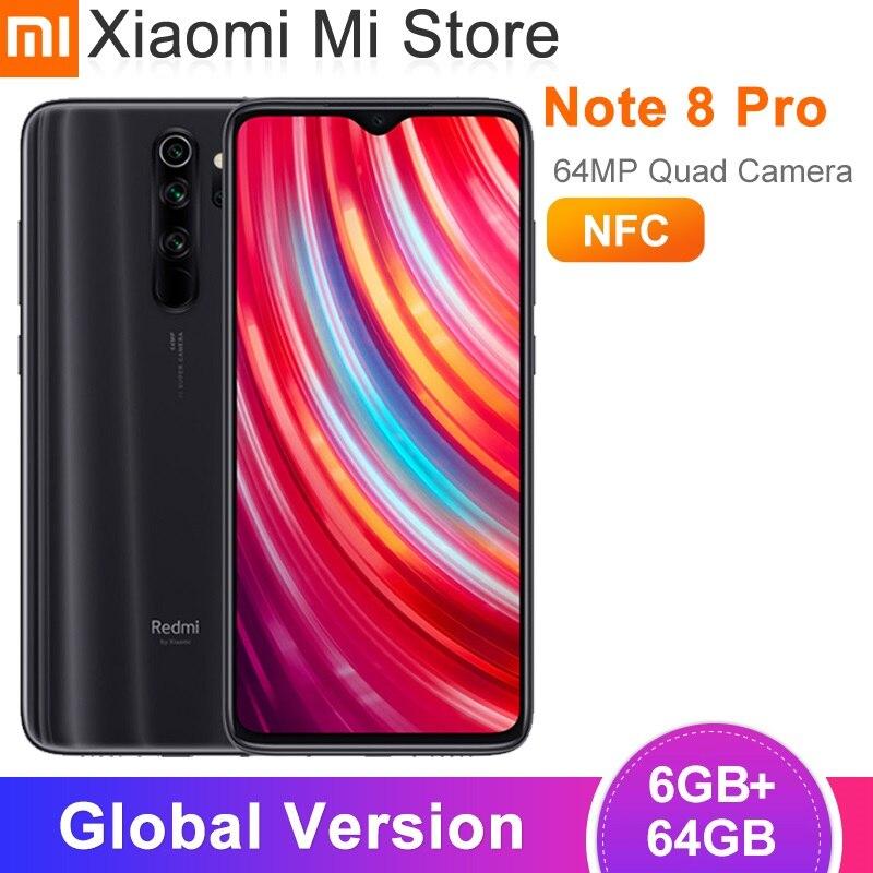 Глобальная версия смартфона Xiaomi Redmi Note 8 Pro 6 ГБ 64 ГБ, камеры 64 мп 6,53