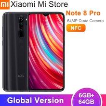 Versão global xiaomi redmi nota 8 pro 6gb 64gb smartphones 64mp câmeras 6.53