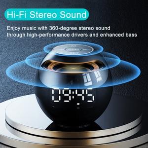Image 3 - מיני Caixa דה סום Portatil Bluetooth רמקול FM רדיו שעון מעורר LED 2000mAh Altavoces Parlante נייד מוסיקה Boombox מתנה רמקול בלוטוס רמקולים רמקול נייד