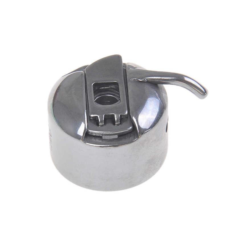 Accesorios para máquina de costura plateada de una pieza, bobina de metal, caja de carrete para máquina de coser