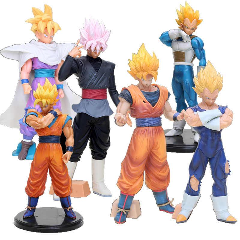 Dragon Ball Z Son goku Estatueta Resolução De Soldados Grandista Son gohan Super Saiyan goku Vegeta Figura modelo Brinquedos