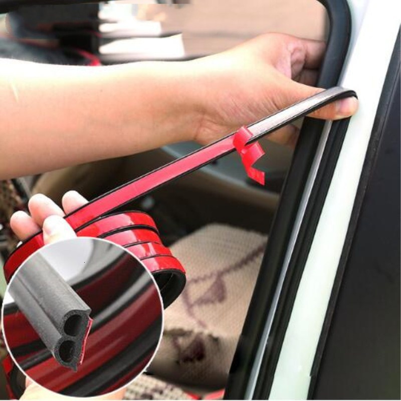 Car Door Seal Strips Sticker B Shape Weatherstrip Rubber Seals Sound Insulation Sealing Automobiles Interior Accessories