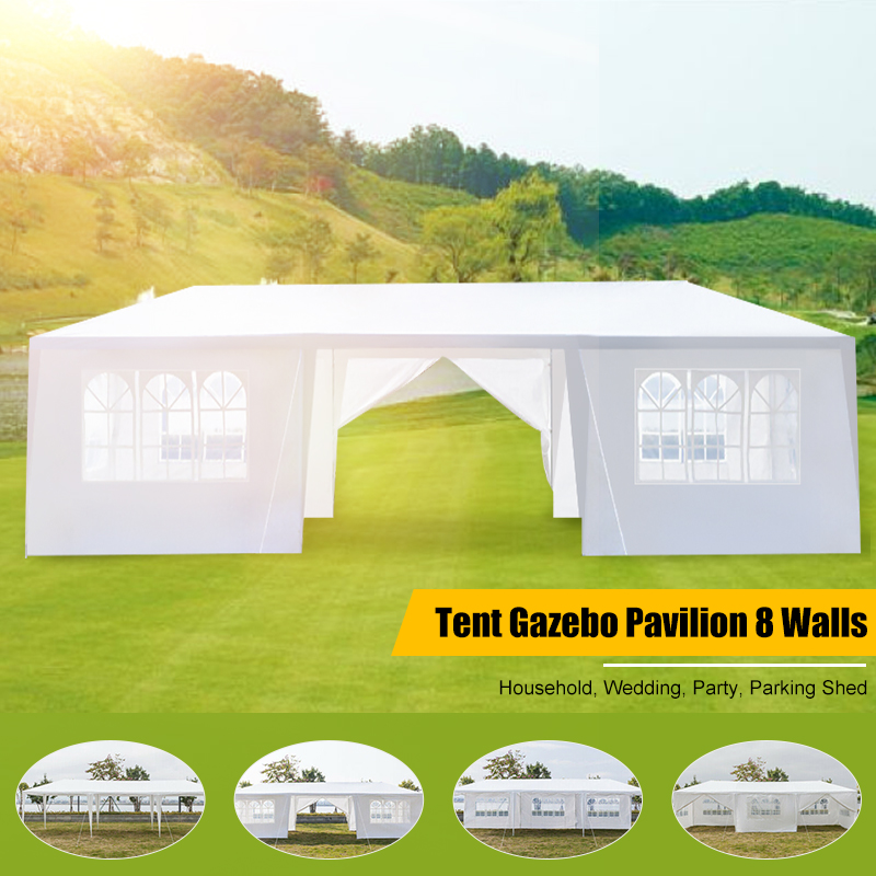 79x30FT Portable Upgrade Outdoor Gazebo Canopy Party Wedding Waterproof Tent Garden Patio Gazebo Pavilion Cater Events 8 Walls|Gazebos| |  - title=