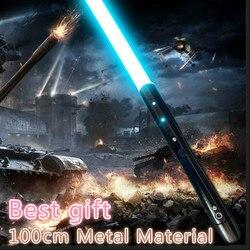 Nuevo 1 Uds Cosplay sable láser con sonido de la luz sable de aleación de Skywalker espada 100 Cm juguete regalo de cumpleaños regalo de Navidad juguetes