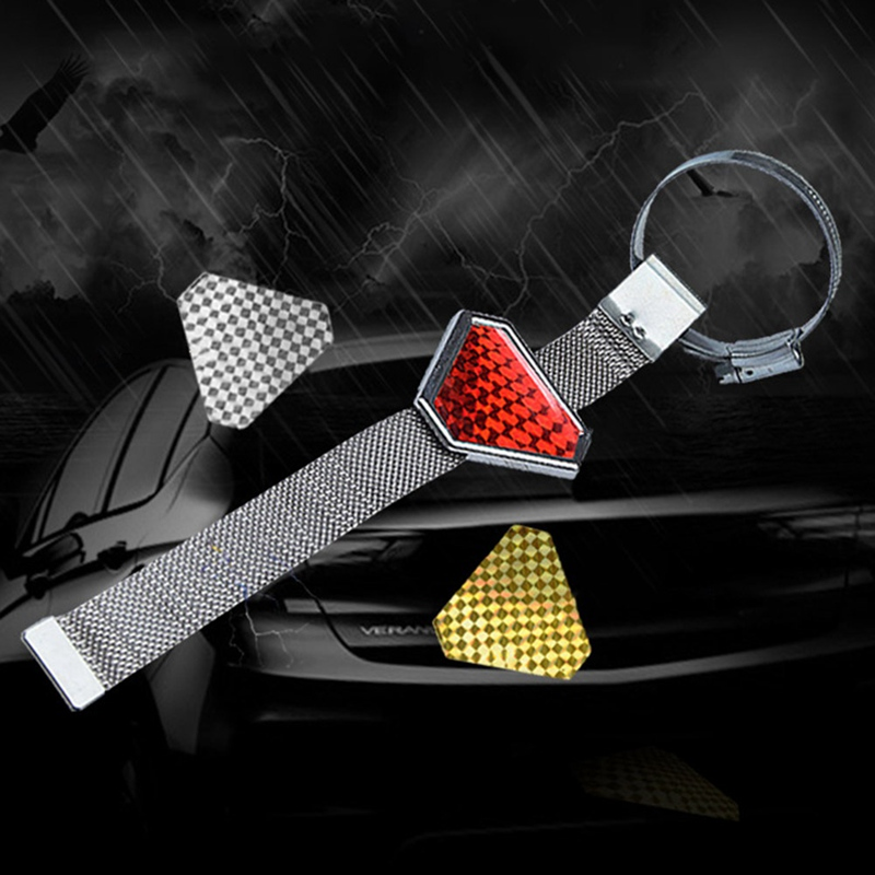 1 Piece Vehicle Car Anti Static Strap Earth Belt Ground Wire Safety Chain|Reflective Strips|   - title=