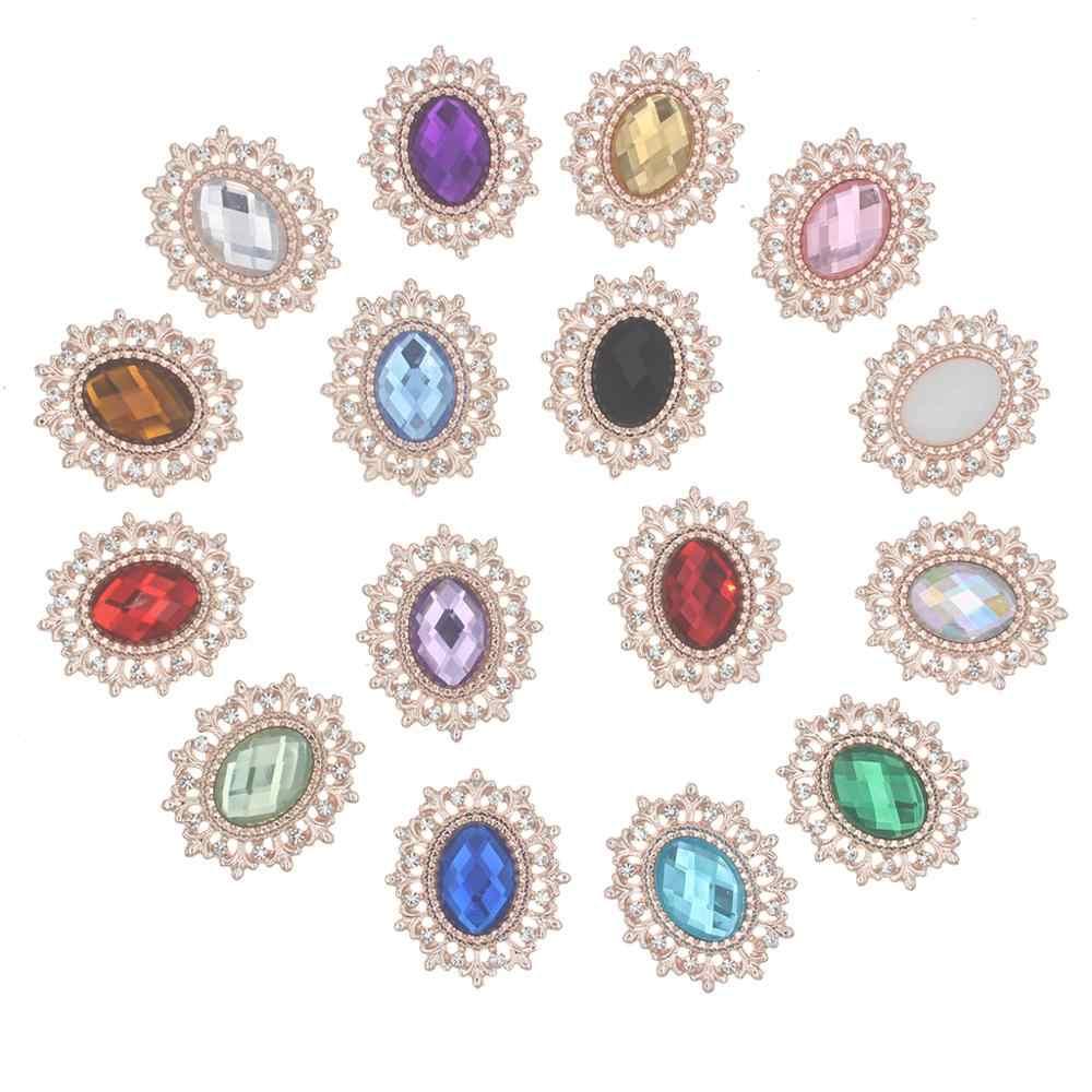 Tombol Berlian Imitasi untuk Kerajinan Jahit Diy Pakaian Buatan Tangan Hiasan Hiasan Dekorasi Rumah Aksesoris 10 Buah