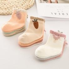 1 pair Baby Socks Boys Girls Cartoon Accessories Decorative Socks Cott