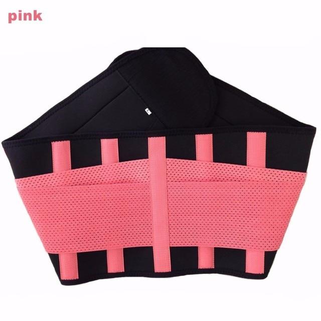 Women And Men Adjustable Elastic Waist Support Belt Neoprene Faja Lumbar Back Sweat Belt Fitness Belt Waist Trainer Heuptas 5
