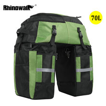 Rhinowalk 3 In 1 Rack Seat Fiets Achter Trunk Bag 70L Mtb Racefiets Multifunctionele Bagage Carrier Bag 3 Kleuren met Regenhoes