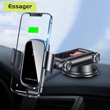 Essager 15W Qi Auto Drahtlose Ladegerät Für iPhone 12 Samsung Xiaomi mi Induktion Auto Montieren Schnelle Wirless Lade Auto telefon Halter
