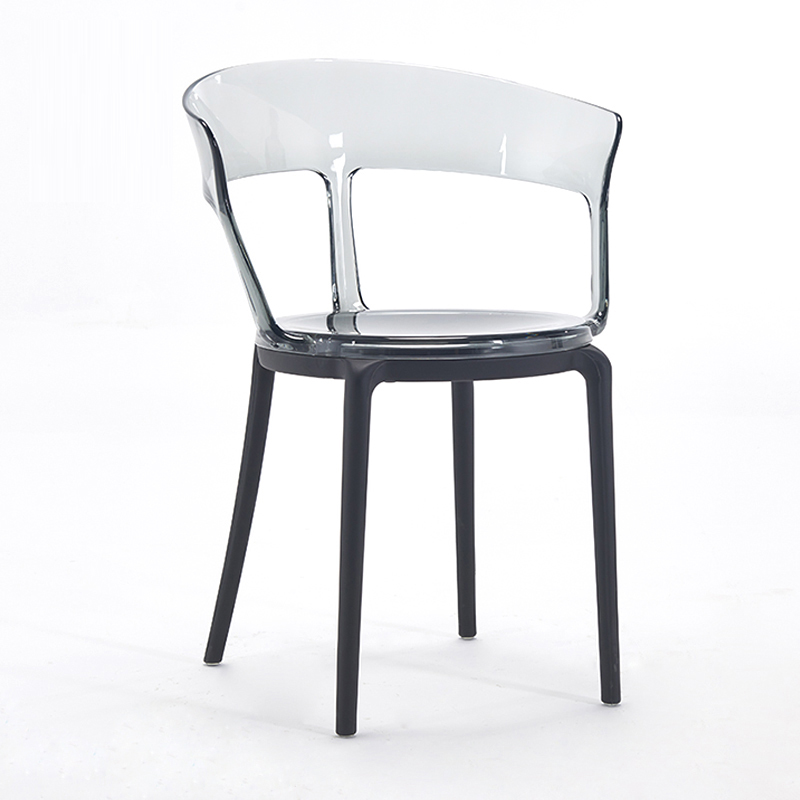 Transparent PC Plastic Dining Chair Restaurant Suitable for Dining Chair Modern Restaurant Office Home Bedroom PC Plastic Chair