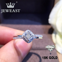 Natural Diamond 18K Gold Pure Ring Beautiful Gemstone Good Upscale Trendy Classic Party Fine Jewelry Hot Sell New 2019