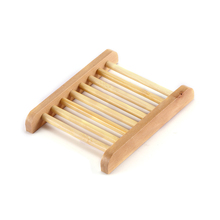 New Useful 12*9cm Natural Wood Strong Bathroom Soap Dish Drain Tray Holder Sponge Plate Home Storage Rack