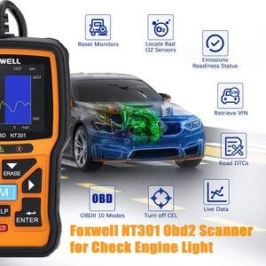 Image 2 - FOXWELL NT301 OBD2 Scanner professionnel EOBD OBDII lecteur de Code moteur vérifier ODB2 OBD 2 automobile Scanner voiture outil de Diagnostic
