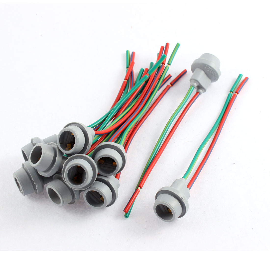Uxcell Car DC 12V W5W <font><b>T10</b></font> 194 168 Light <font><b>Socket</b></font> Lamp Holder Wire Harness Connector 10Pcs image