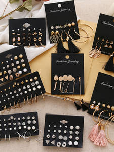 FNIO Women's Earrings Set Pearl Earrings For Women Bohemian Fashion Jewelry 2020 Geometric