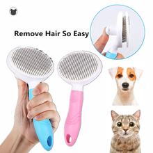 Pet Comb Self Cleaning Brush Professional Grooming Brush for Dogs and Cats,Quick Clean Short and Medium Hair Removal Accessories