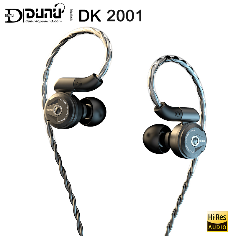DUNU DK2001 HiFi Audio 3BA + 1DD controladores híbridos In-ear auricular IEM con Catch-Hold MMCX Connector OCC copper Litz cable DK 2001