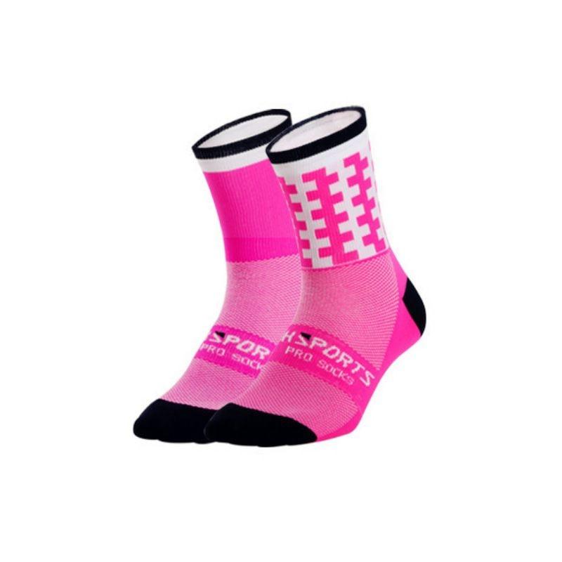 1 пара профессиональных спортивных носков для мужчин и женщин, дышащие спортивные носки для тренировок, бега, походов, альпинизма - Цвет: P