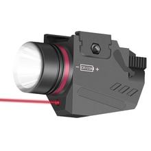 טקטי LED נשק אקדח אור פנס אדום דוט לייזר Sight צבאי איירסופט אקדח אקדח אור עבור 20mm רכבת מיני אקדח אקדח
