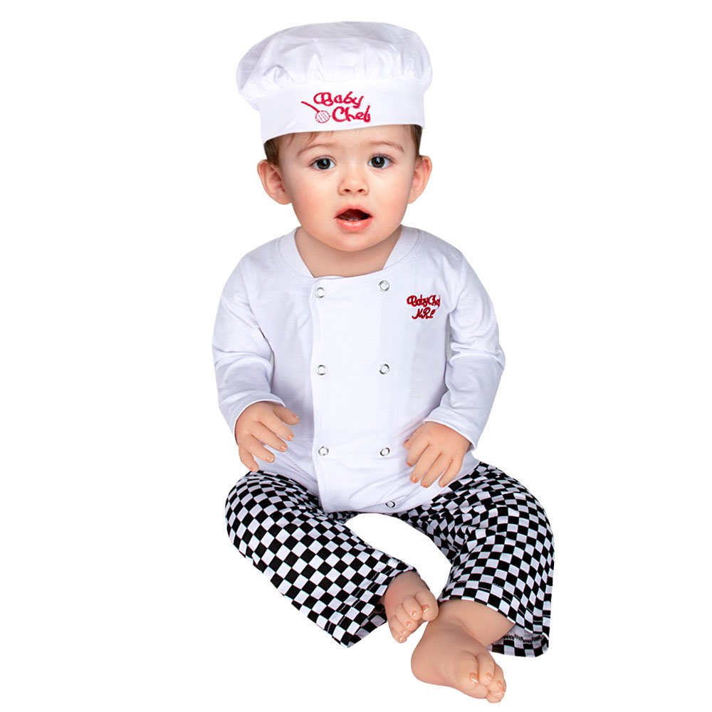 Baby Jungen Chef Kostüm Set Infant Halloween Phantasie Kleid Outfit Kleinkind Cosplay Kochen Karneval Party Kleidung 3PCS