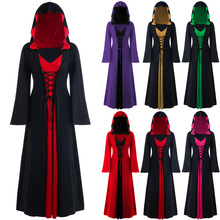 2019 New Halloween Cosplay Costumes Scary Vampire Witch Costume For Women Medieval Victorian Masquerade Hooded Dress Cloak halloween victorian dress cosplay costumes scary vampire witch clothes women medieval masquerade costume ghost fancy maxi dress
