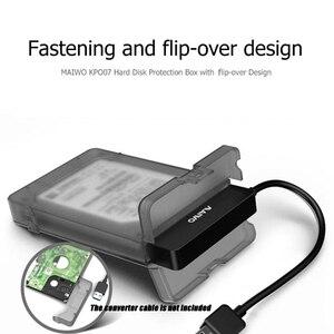 Защитная коробка для хранения жесткого диска MAIWO KP007, защитный чехол для 2,5-дюймового жесткого диска/SSD 9,5 мм/0,37 ''SATA жесткого диска