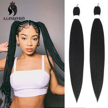Alororo Afro Ombre Braiding Hair Pre Stretched 30 Inch Jumbo Braid Hair Braids Extensions Black Synthetic Hair Wholesale