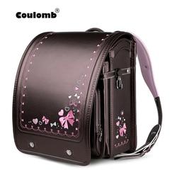 Coulomb Children School Bag For Girls Kid Orthopedic Backpack For School Students Bookbags Japan PU Randoseru Baby Bags 2020 New
