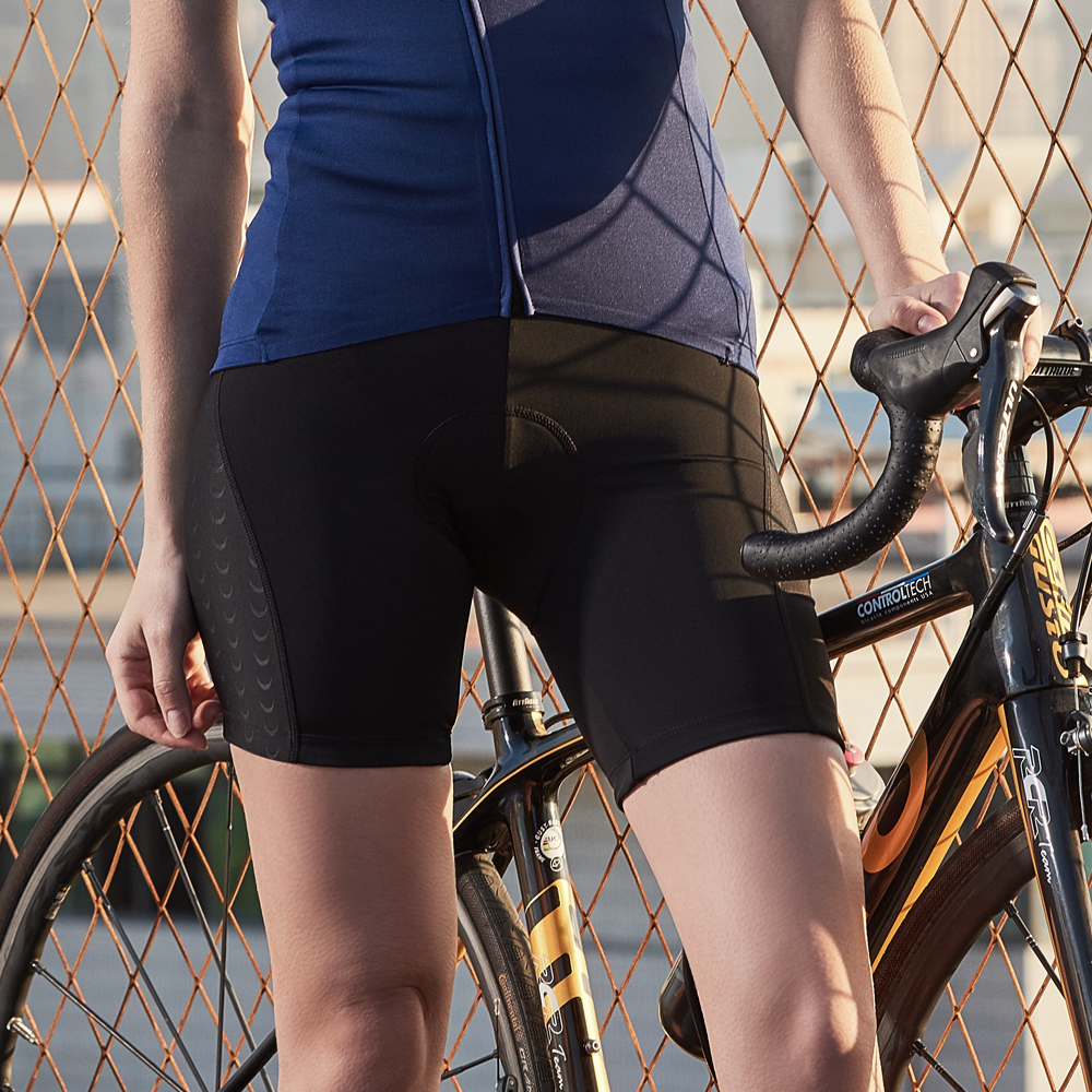 Santic Women's Cycling Shorts 4D Pad Shockproof Anti-pilling MTB And Bike Shorts Sports Short Mesh Hole Breathable Asian K9LB078