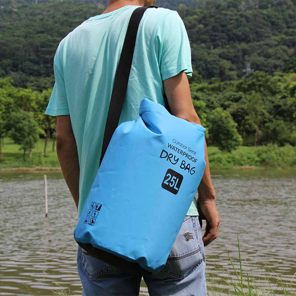 Outdoor Waterproof Dry Bag With Adjustable Shoulder Straps For Boating Kayaking Fishing