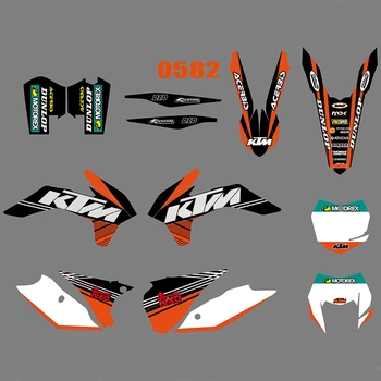 For KTM EXC XCW XCF-W 2014 2015 2016 Graphics Decals Stickers Custom Number Name 3M Full  Motorcycle Backgrounds  Accessories