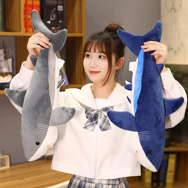 Hot Lovely New Huggable Big Size Soft Toy Plush Shark Stuffed Toys Sleeping Cute Pillow Cushion Stuffed Animal Gift For Children  - buy with discount