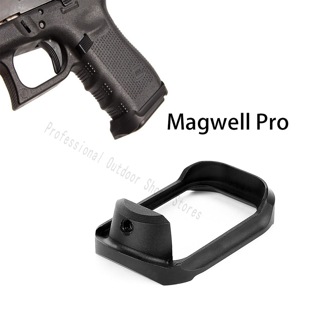 TWO 2 Magazine Mag Extensions 9mm Mag Base Plate For Glock 17 19 22 23 26 27 33