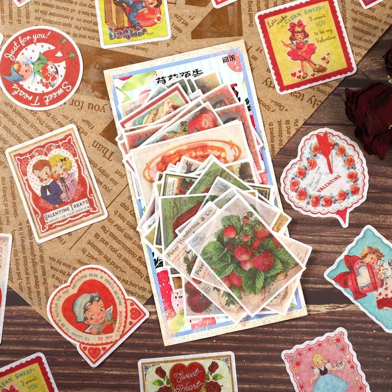 60pcs/pack Kawaii Stationery Stickers Retro Bills DIY Craft Scrapbooking Album Junk Journal Happy Planner Diary Stickers