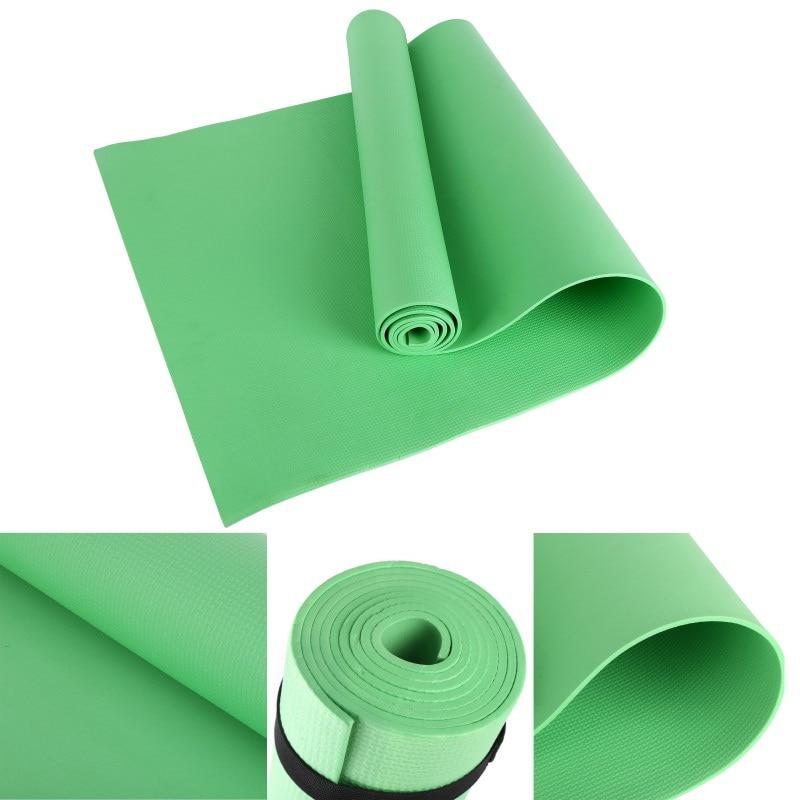 4mm Thick Non-Slip Yoga Mat EVA Dampproof Sport Gym Soft Pilates Mats Foldable For Body Building Fitness Exercises Equipment