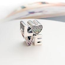 Аутентичные 925 стерлингового серебра бусины творческие и Красочные