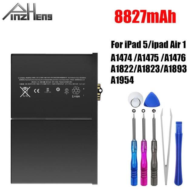 PINZHENG 8827mAh Tablet סוללה עבור iPad 5 אוויר 1 החלפת Bateria A1474 A1475 A1476 A1822 A1823 A1893 A1954 סוללה עם כלי