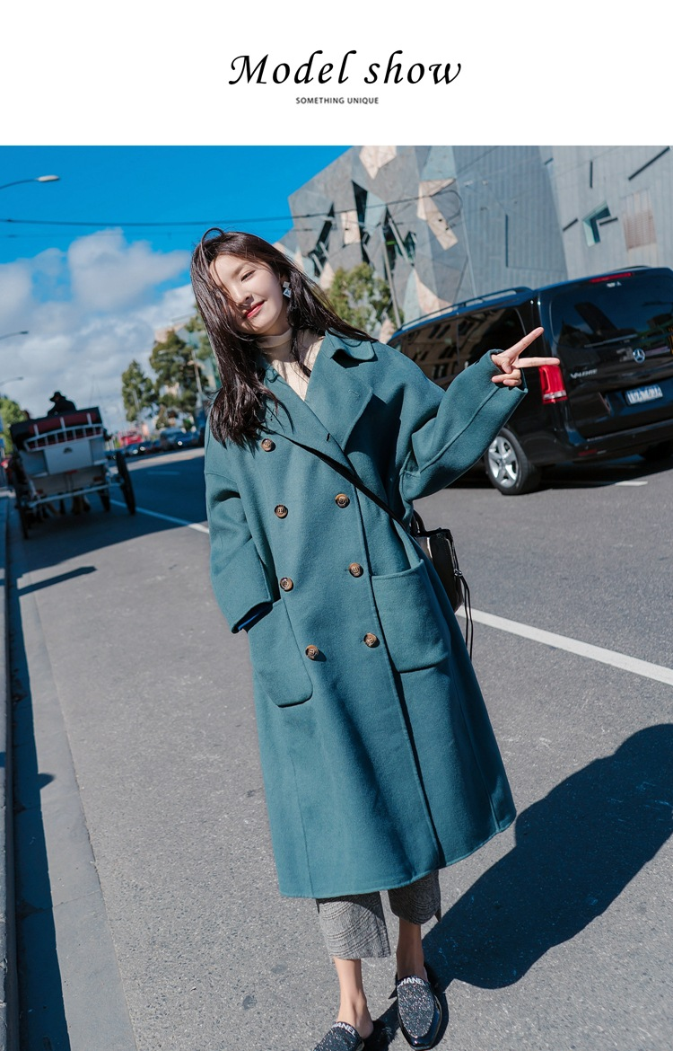 Large Size 2019 Fashion Women Winter Jacket Wool Coat Female Long Paragraph Long Sleeve Coat Thick Woolen Blends Outwear 2