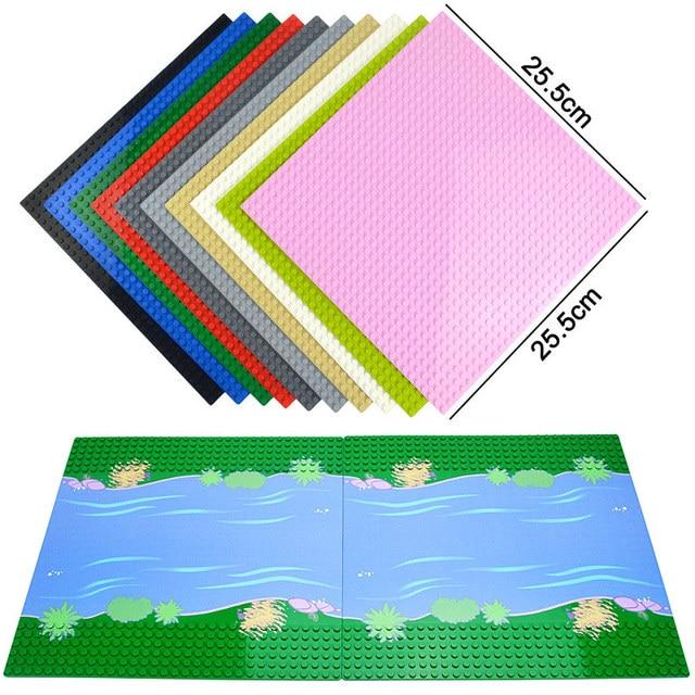 Plaques de Base classiques briques en plastique plaques de Base compatibles principales dimensions brank blocs de Construction jouets de Construction 32*32 points