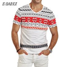 E BAIHUI brand mens t shirts fashion printing Clothing Swag Men T shirts Camiseta tops tees