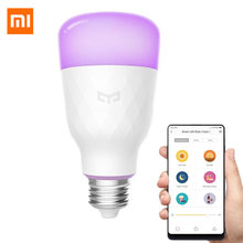 (Version mise à jour) MI Mijia Yeelight ampoule LED intelligente coloré 800 Lumens 10W E27 citron lampe intelligente pour Mi Home App Option blanc/rvb(China)