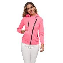 Hoodies Women Black White Green Red 14 Colors XS-3XL Plus Size Sweatshirts Autumn Winter Loose Zipper Velvet Hoodie CX515