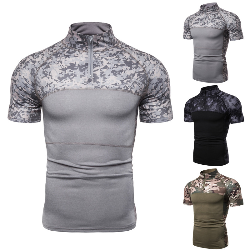 Men Camouflage Army T-Shirt Men US RU Soldiers Combat Tactical T Shirt Military Force Multicam Camo Long Sleeve T Shirts