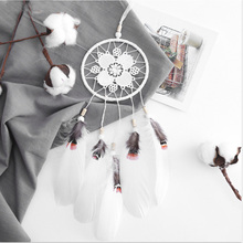 Europe Style Wedding Dreamcatcher Handicraft Hollow Flower Feathers Dream Catcher Pendant Indoor Ornaments For Student gift